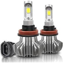 H13//9008 Led Headlight Bulbs High Low Beam 50W 5000Lumens Super Bright LED Waterproof Headlights Conversion Kit 6500K Cool White IP68 Halogen replacement 1 Pair